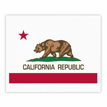 "Bruce Stanfield ""California State Flag"" Red White Fine Art Gallery Print"