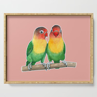 Fischer's lovebirds Serving Tray by savousepate