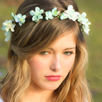 wedding accessories bridal flower crown wedding by serenitycrystal