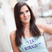 Yes I Workout - Racer back tank bamboo cotton