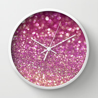 Triple Berry Rush Wall Clock by Lisa Argyropoulos