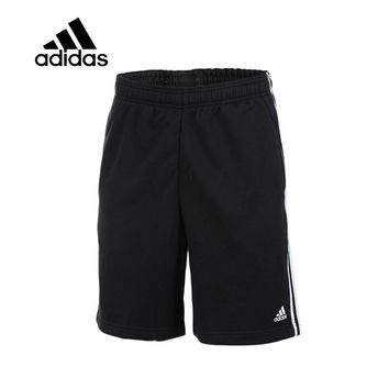 Original Authentic Adidas Men Trainning Exercise Running Shorts Male Black Leisure Sportswear Breathable Quick Dry New Arrival