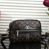 Louis Vuitton LV  Women Leather Zipper Shopping Crossbody Shoulder Bag Satchel