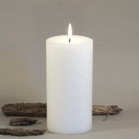 White Pillar Candles 3 x 6""