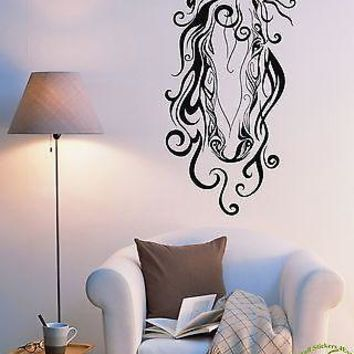 Wall Stickers Vinyl Decal Horse Head Animal Mustang Cool Decor  Unique Gift (z1956)