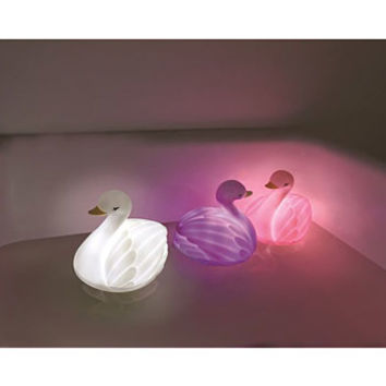 White Swan Floating Bath Light