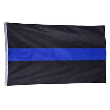 Big Sale! 1pcs Flag BlueLine USA Police Flag American Thin Blue and Black Striped Flag Banner Size 90*150cm/3*5 FT Drop Shipping