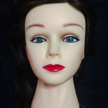 Head Vintage Mannequin Display Prop Female Lady Women Halloween