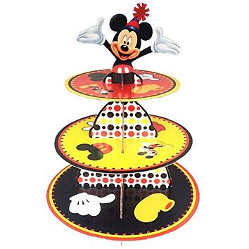BETOP HOUSE Cute Round Mickey Mouse Dessert Muffin Cupcake Holder Cupcake Stand