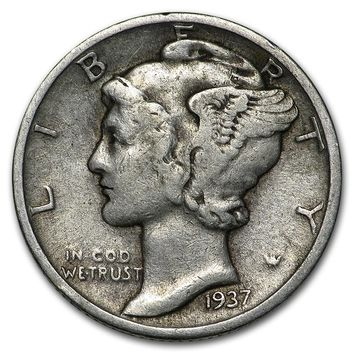 1937 Mercury Dime Good/VF