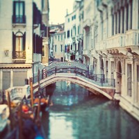 Venice photo - Venice canal, Italy - Blue Venice - Fine art travel photograph