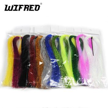 Wifreo 100Packs Crystal Holographic Flashabou Krystal Flash Tinsel Fly Tying Materials Twisted Strands Tinsel Wing Tail Craft