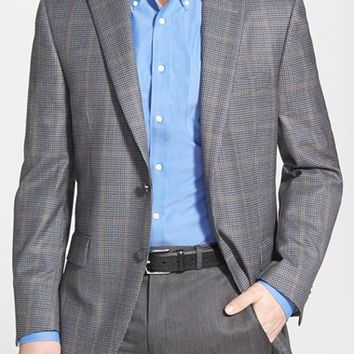 Men's Peter Millar 'Flynn' Classic Fit Windowpane Wool Sport Coat