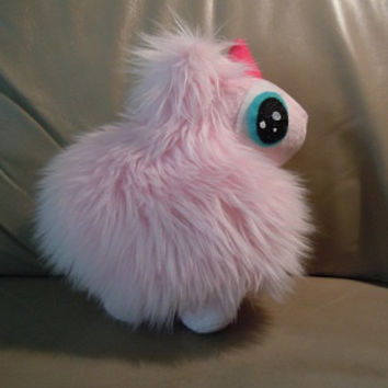 "Fluffle Puff pony 9""  Handmade faux fur fan inspired plush"