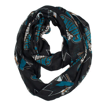 San Jose Sharks NHL Sheer Infinity Scarf