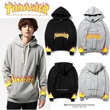 Thrasher Fire Parka Old Hoodie Sweater M Xxl