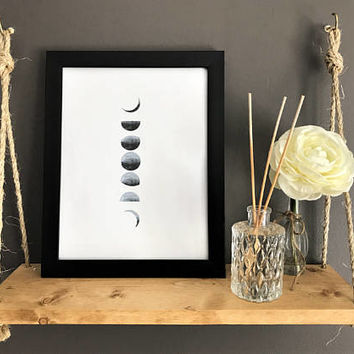 "Watercolor Digital Download ""Moon Phases"""