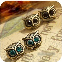 Cute Owl Rhinestone Earrings