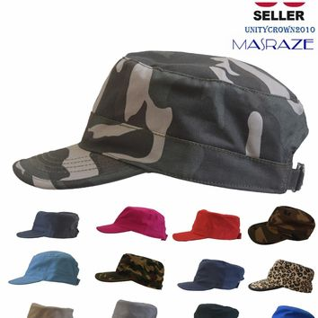 Masraze Army Military Patrol Cadet Baseball Cap Summer Men/Women Cotton Hat new