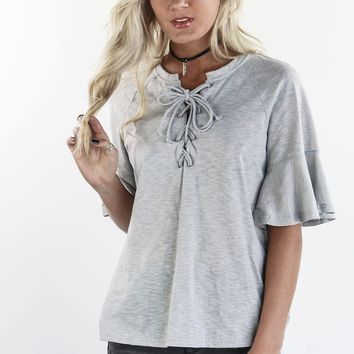 Make This Great Cool Gray Short Sleeve Top