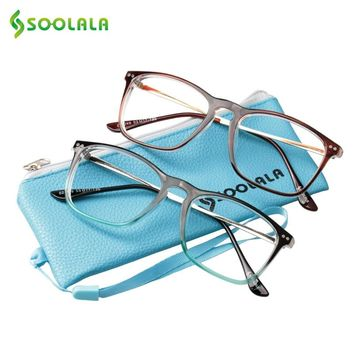 803fbd2ef4f7 SOOLALA Oversized Womens Mens Full Rimmed Reading Glasses Large