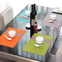 Y137 pvc placemat dining table mats set de table bowl pad napkin dining table tray mat coasters kids table set