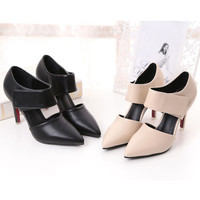 Heel Pumps Pointed Toe Cut Out Stiletto