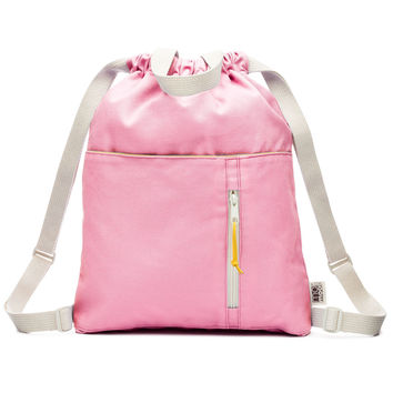 Organic Pinkberry Canvas Drawstring Backpack