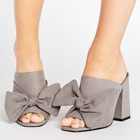 New Look Wide Fit Bow Mule at asos.com