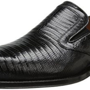MEZLAN MENS HOOKE SLIP-ON LOAFER, BLACK, 10.5 M US