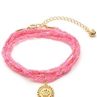 Woven Cord Wrap Bracelet by Juicy Couture, O/S