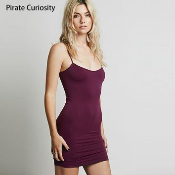 Pirate Curiosity Negligees Elegant Nightgowns Women Sexy Silk Strap Full Slip Dress Mini Cami Slips Underdress Solid Underskirt