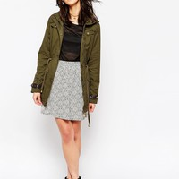 Brave Soul Lightweight Parka With Contrast Lining at asos.com
