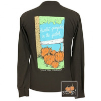 Girlie Girl Preppy Sweetest Pumpkin Fall Long Sleeve T-Shirt