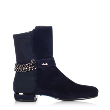 Loriblu Designer Shoes Night Blue Suede Bootie
