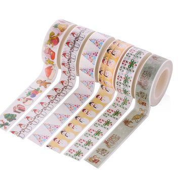 Merry Christmas tape washi cute patterns paper DIY
