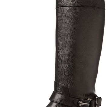 Dolce Vita Women's Channy Boot,Black Leather,6.5 M US