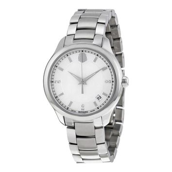 Movado Bellina White Mother of Pearl Dial Stainless Steel Ladies Watch 0606978