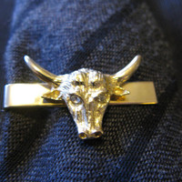 Texas Longhorn Steer Bull Swank Tie Clip Bar, University of Texas