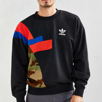 adidas Block Crew Neck Sweatshirt - Urban Outfitters
