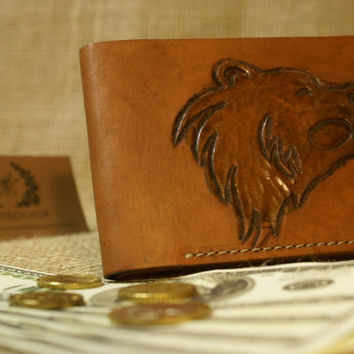 Men's Leather Wallet - leather wallet - Mens Wallet - Brown Wallet
