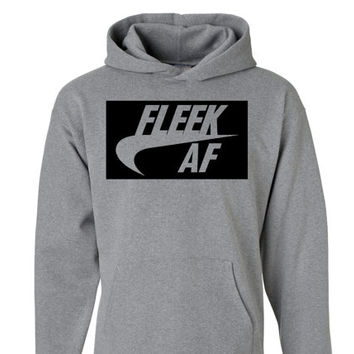 Fleek AF Unisex Hoodie | Eyebrows on Fleek Shirt | Drake Lit Fam Yeezy Drizzy Sweatshirt | Hip Hop Tshirt | Queen Bee | Bye Felicia Mean Lit