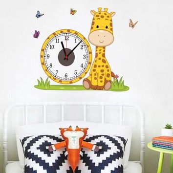 wall electron clock stickers home decoration living room children baby bedroom decorative wallpapers