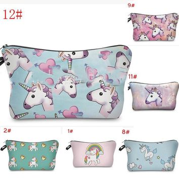 US Womens Change Coin unicorn Small Clutch Wallet Key Card Holder Pouch Handbag