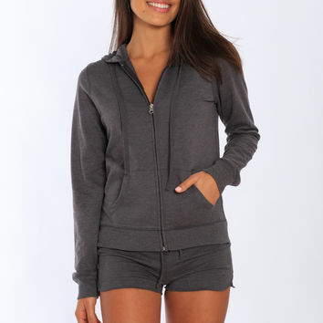 Miami Style® - Womens French Terry Zip Up Hoodie