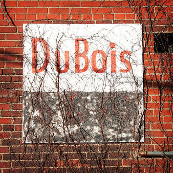 Urban Art Photograph, DuBois Pennsylvania, Color Photography, Brick Wall, Urban Landscape, red, black, Home or Office Decor