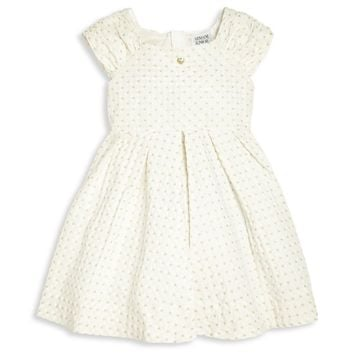 Girls Ivory Fancy 'Hearts' Dress