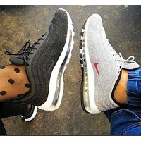 Nike Air Max 97 Silver bullet air cushion running shoes