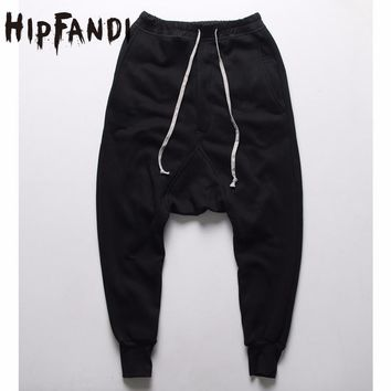 HIPFANDI joggers Casual Trousers Harem Pants Men Black Fashion Swag Dance Drop Crotch Hip Hop Sweat Pants Sweatpants For Men