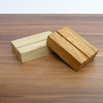 Wood Business Card Holder. Oak Wood Business Card Holder. Oak Paper Stand. Wooden Business Card Holder